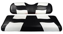 Madjax RIPTIDE 2001-Up Black/White Two-Tone Front Seat Cover