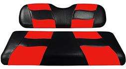 Madjax Riptide 2004-Up Black/Red Two-Tone Front Seat Covers