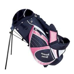 """Paragon Golf Rising Star Jr Golf Bag with Stand, Pink - 25"""""""