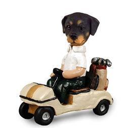 Rottweiler Golf Cart Doogie Collectable Figurine