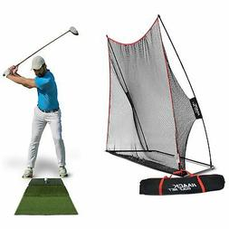 Rukket Haack Golf Net  Bundle with Tri-Turf Hitting Mat (Lif