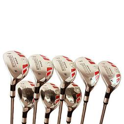 SENIOR GRAPHITE HYBRIDS 3-9 FREE PW RESCUE ALL HYBRID CLUBS