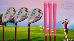 Senior Ladies iDrive Pink Golf Clubs All Hybrid Set 55+ Year