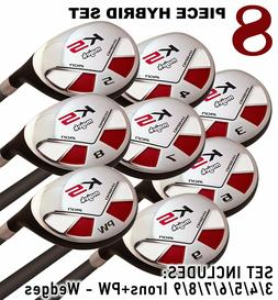 Senior One Length Men's Majek Golf All True Hybrid Set 3-P