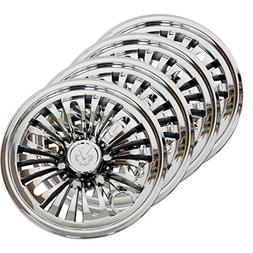 "3G Set  8"" Chrome Flower Wheel Covers for EZGO, Club Car and"