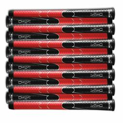 SET OF 9 or 13 WINN DRITAC AVS STANDARD BLACK / RED GOLF GRI