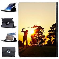 Silhouette of Golfer Swinging Club on Golf Course for Apple