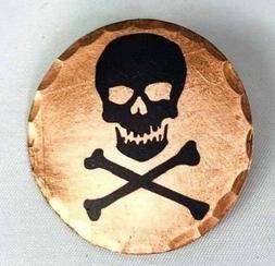 Skull and Crossbones Forged Copper Golf Ball Marker by Sunfi