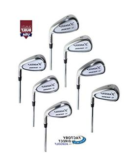 Men's Regular Flex, Tall Length  Tour Irons Set 4-9 Irons +
