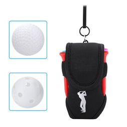 Small Golf Ball Storage Sack Holder Pouch Attach to Waist Be