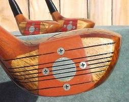 solid persimmon clubs rh set woods driver