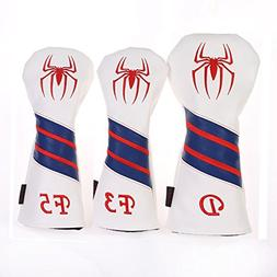 Volf Golf Spiderman Golf Woods Club Headcover Leather Golf D