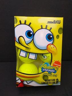 Nickelodeon Wilson Sponge Bob Golf Balls 6 Pack