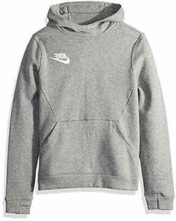 NIKE Sportswear Boys' Club Pullover Hoodie, Carbon Heather/C