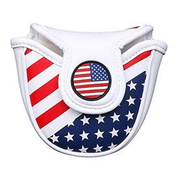 Stars& Stripes Golf Mallet Putter Head Cover Protector for O
