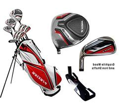 Men's Tall All Graphite Complete Golf Club Set Right Handed,