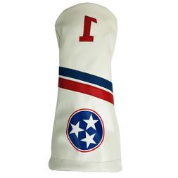 Tennessee Tri Star Sunfish leather driver golf club headcove