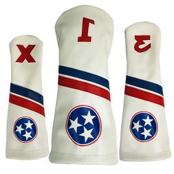 Tennessee Tri Star Sunfish leather golf club headcover 3 pie