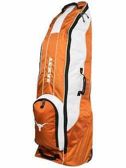 Texas Longhorns Team Golf Orange Golf Clubs Wheeled Luggage