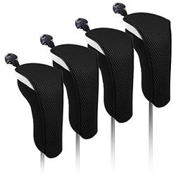 4X Thick Neoprene Hybrid Golf Club Head Cover Headcovers wit