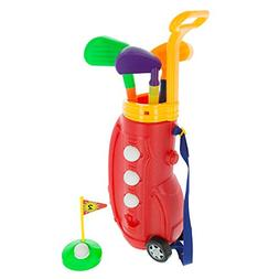 Toddler Toy Golf Play Set with Plastic Bag, 2 Clubs, 1 Putte