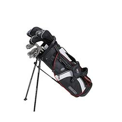 US Kids Golf Tour Series 10 Club Stand Junior Set Bag, Black