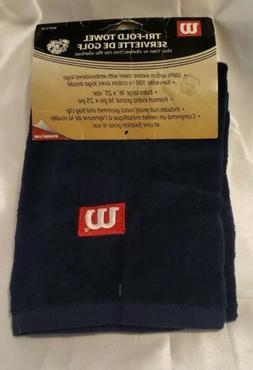 New Wilson Golf Standard Tri-Fold Towel  White