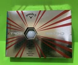 TWO Boxes NEW Callaway Chrome Soft X White Golf Balls 2 Doze