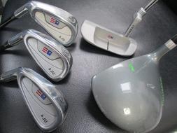 USKG UL4 US Kids Golf Set RH Driver 6,8,PW, Putter - 5 Club