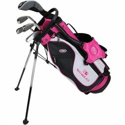 "US Kids Golf Ultra Light 51"" Height, 5 Club Stand Golf Set w"