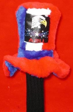 Uncle Sam's Hat Red White and Blue with Eagle Stars and USA