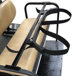 Universal 2 in 1 Golf Bag Holder Bracket Attachment Cart Rea