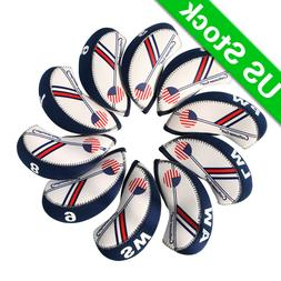 USA FLAG GOLF Iron Head Covers Headcovers Club Protection Fo