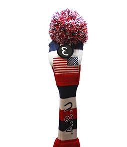 USA Patriot Majek Golf Club Fairway Wood Pom Pom Patriotic K