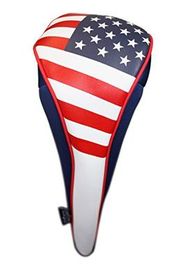 Majek USA Patriot Golf Zipper Head Covers Driver #1 Headcove