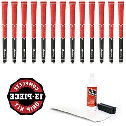Karma V-Cord Black/Red Standard - 13Piece Golf Grip Kit