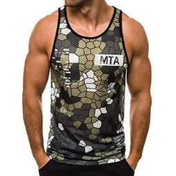 YOcheerful Men Vest Sleeveless Tank Top T Shirt Tee Top Boy