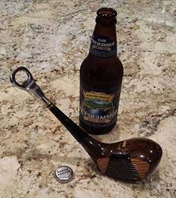 Vintage Golf Club Bottle Opener Made from an actual wood gol
