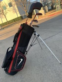 Nike VRS Junior Golf Set  Plus Bag Right Hand Graphite Kids
