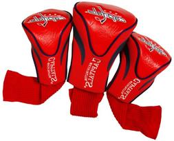 Washington Capitals 3-Pack Golf Club Headcovers - Red