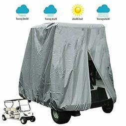 FLYMEI 4 Passenger Waterproof Golf Cart Cover Fits EZ GO Clu