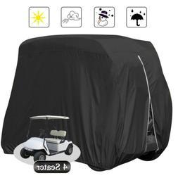 Waterproof Golf Cart Black Storage Cover 4 Passenger Fits EZ