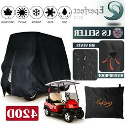 Waterproof Golf Cart Storage Cover 4 Passenger EZGO Club Car
