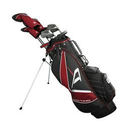 Wilson Golf - New Men's Deep Red Tour Complete Golf Club Set
