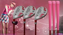 "Women's iDrive Golf Clubs All Ladies Pink Hybrid  Set Lady """