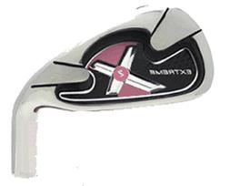 WOMENS PINK EXTREME X2 IRONS Golf Clubs 4-SW Steel Ladies Ta