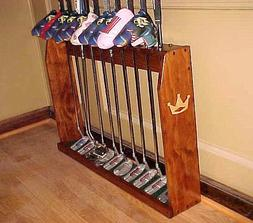 wood floor display rack for 10 scotty