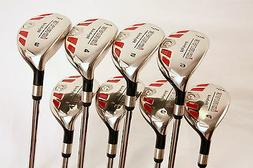 XL BIG TALL LEFT HANDED SENIOR LH GOLF CLUBS HYBRIDS 3-9 + P